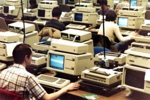 University of Michigan computer lab, 1980
