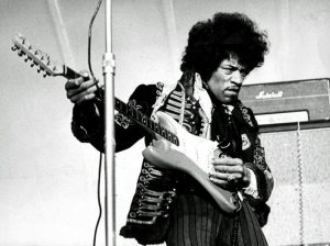 Hendrix on stage in 1967