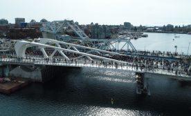 New Johnson Street Bridge by Drone