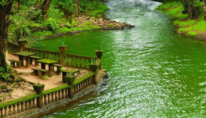 Swimming lake and picnic area