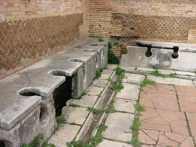 Ancient Roman latrines
