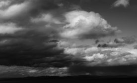 Dark sky with rain