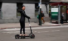 Scootering around town