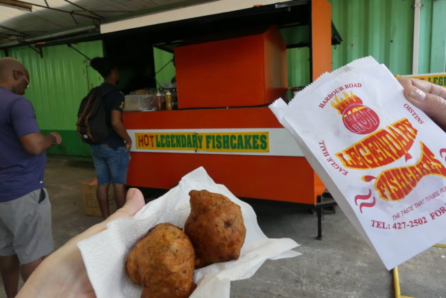 Fish Cakes.  Part of the Lickrish Food Tour in Bridgetown