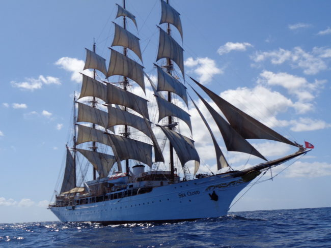 Sea Cloud Under Full Sail