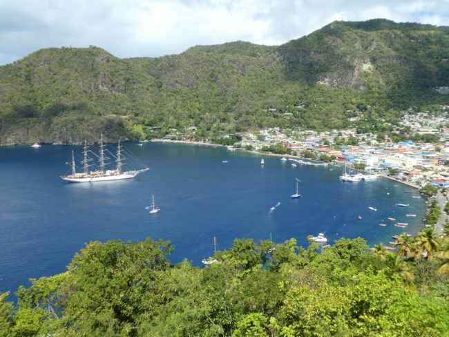 Sea Cloud in Soufriere Harbour