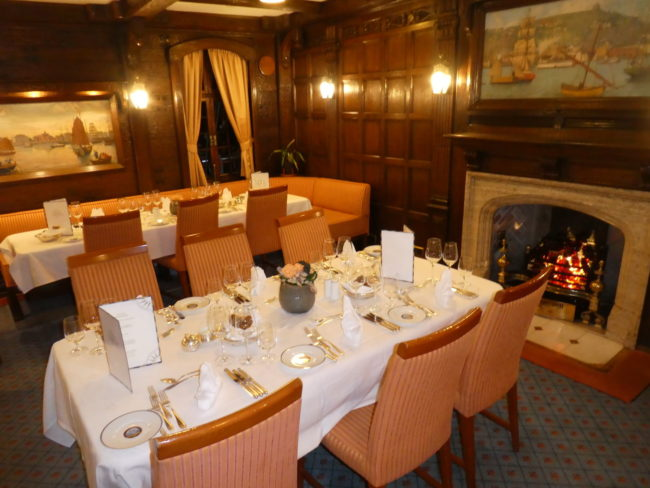 The elegant Sea Cloud Dining Room