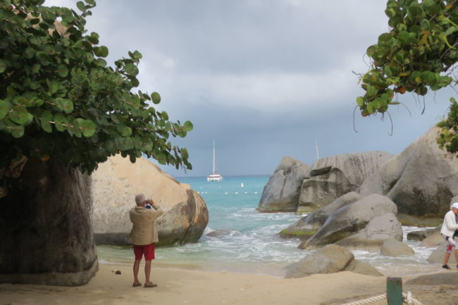 The Baths, giant rock formations in Virgin Gorda