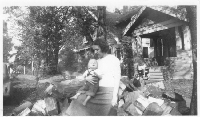 1949 -Mother with author as babe in arms.
