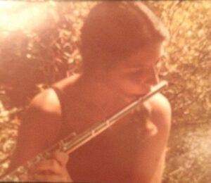 Linda with a flute